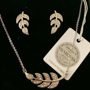 Jewelry - NIC & SYD Floating Leaf & Earring Set Necklace